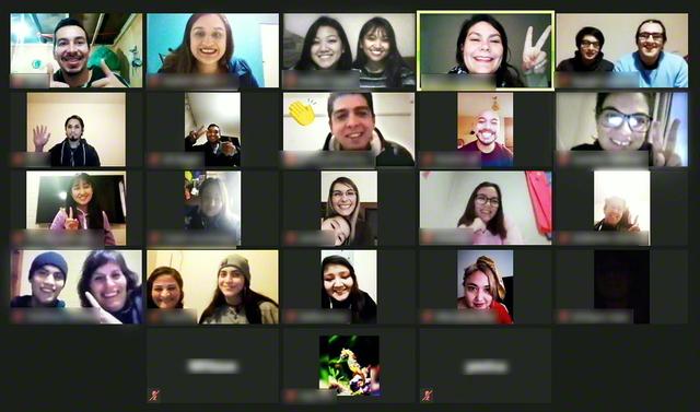 チリ青年部のオンライン総会