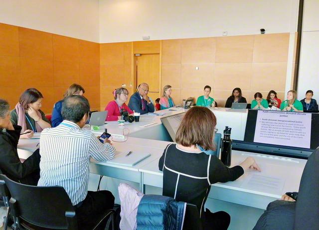 2019年12月、スペインのマドリードで行われた国連気候変動枠組条約の第25回締約国会議(COP25)の関連行事。会議には、気候変動の問題に対し、倫理や人権の観点からの議論の醸成に尽力してきたSGIの代表も参加した