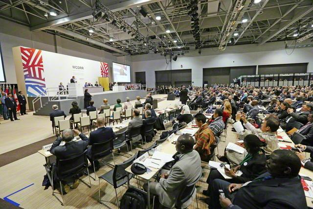 2015年3月、宮城・仙台市で行われた第3回「国連防災世界会議」。185カ国の代表らが出席し、防災の取り組みの国際的な指針となる「仙台防災枠組」が採択された