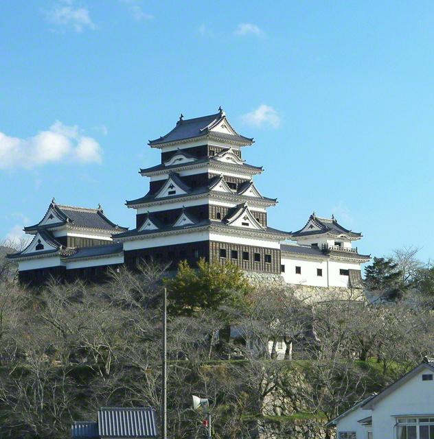 2004年(平成16年)に天守が復元された「大洲城」。4棟の櫓(やぐら)は、国の重要文化財に指定されている(愛媛県大洲市)=愛媛支局・上田月子通信員