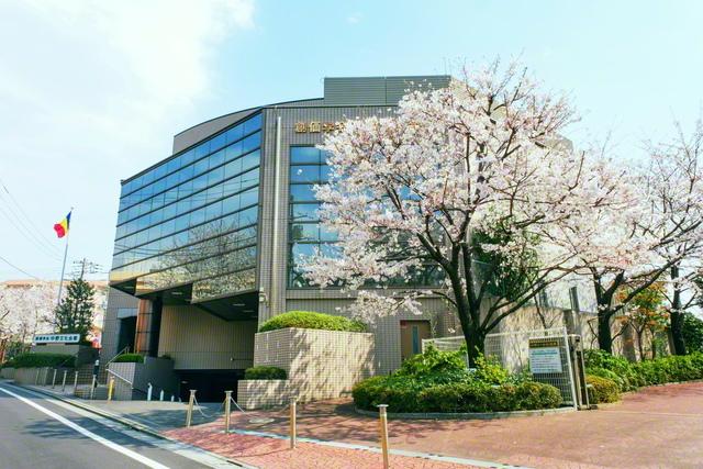 中野文化会館の庭に咲く「周恩来記念桜」。中国の周総理は留学生時代、会館から至近の地に一時下宿した。池田先生は5年前の5月に同会館を視察。中野の友に万感のエールを送った