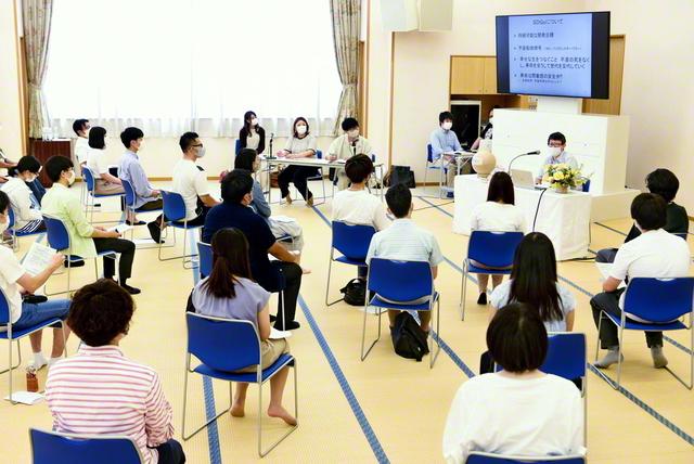 総新潟青年部主催のSDGsシンポジウム(7月31日、長岡平和講堂で)