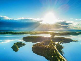 国内最大の湖「サイマー湖」(写真提供=フィンランド政府観光局 ©Visit Saimaa/Silvennoinen)