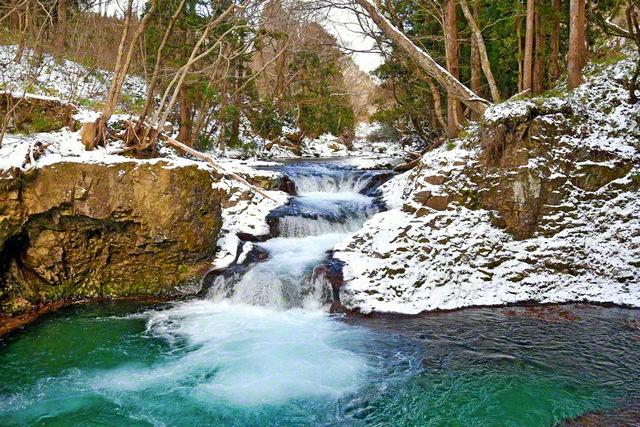 岨谷峡の雪景色