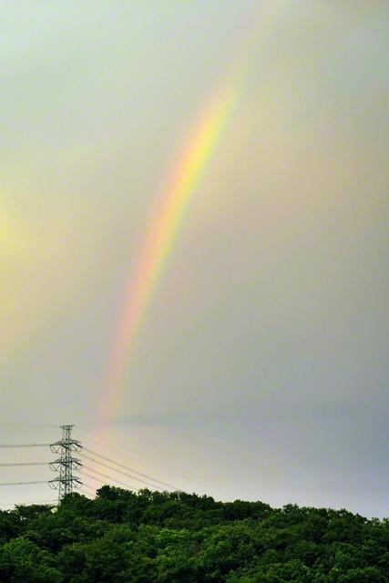 八王子から見た虹